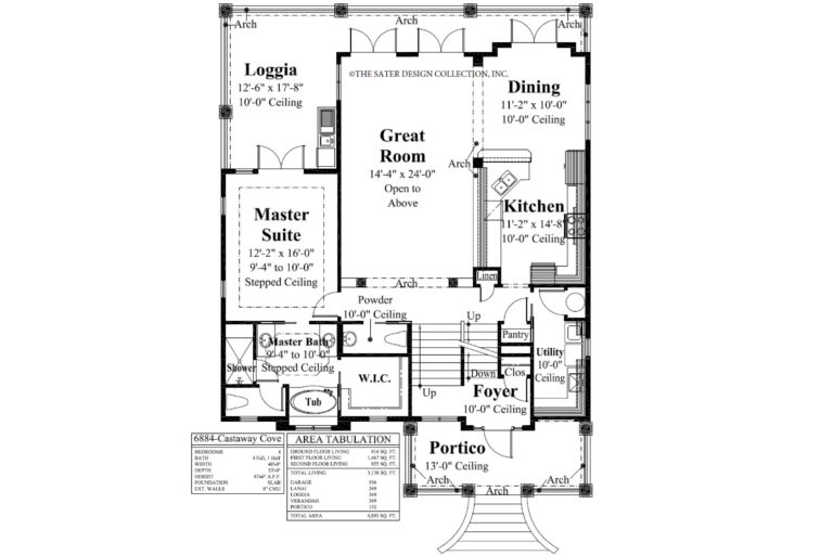 Castaway Cove First Level Floor Plan