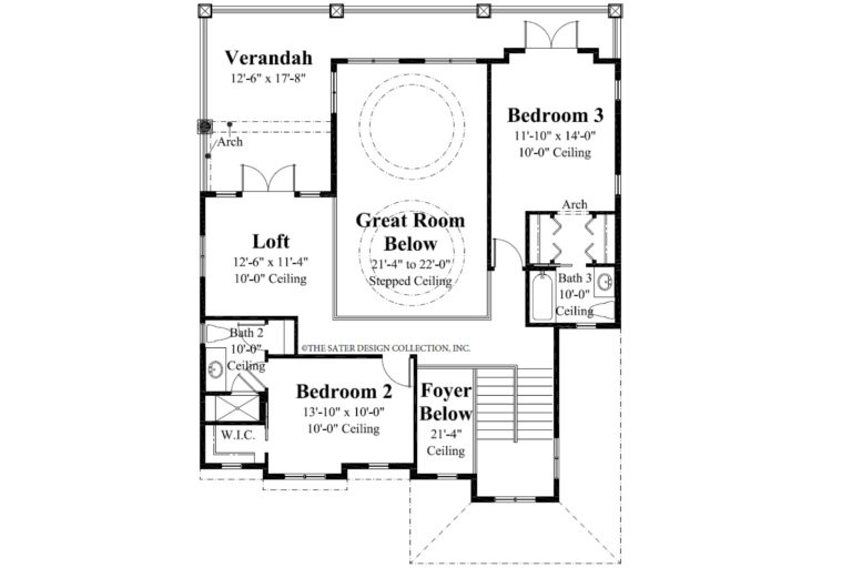 Castaway Cove Second Level Floor Plan